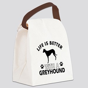 Greyhound dog gear Canvas Lunch Bag